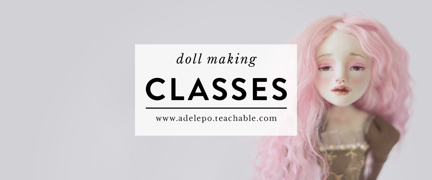 Doll making classes by Adelepo
