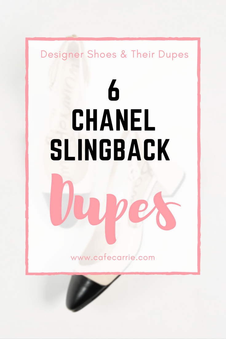 Chanel Cap Toe Slingback Dupes