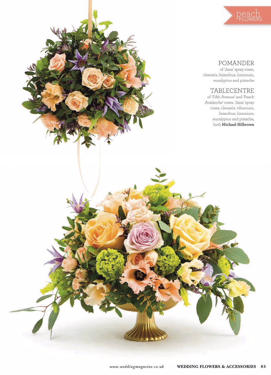 Michael Hilbrown Florist - Table Centrepiece and Pomander - Wedding Flowers Magazine July & August 2016.jpg
