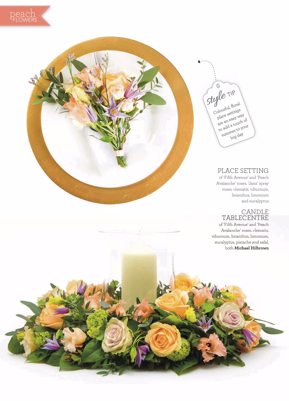 Michael Hlbrown Florist - Place Setting and Table Centrepiece - Wedding Flowers Magazine July & August 2016.jpg
