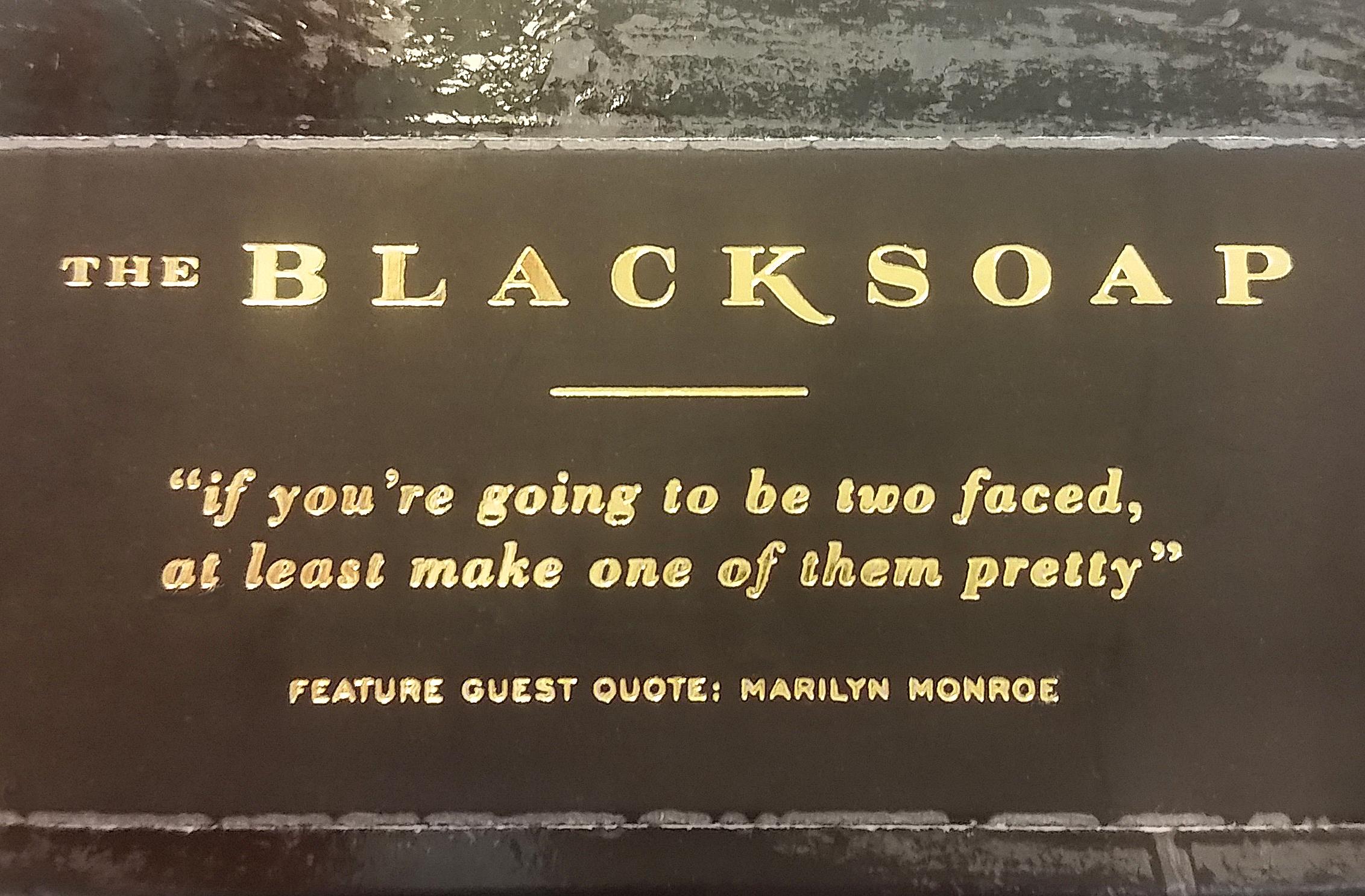 Fun soap at Blackstone