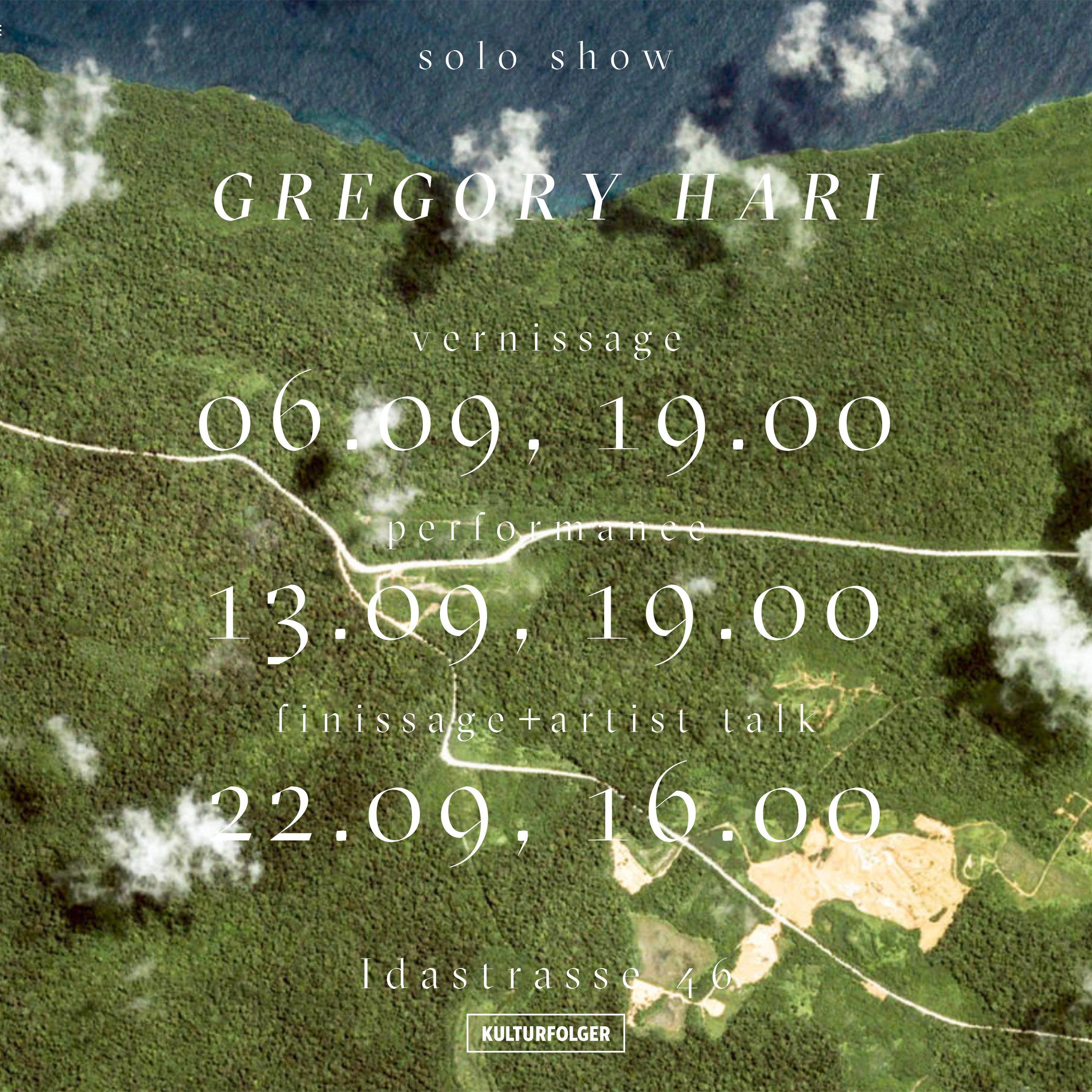 Gregory Hari:  Die kleine Gischt - La petite écume   Vernissage + Performance: 06.09.19, 19 UHR  Performance: 13.09.19, 19 UHR  Finissage + Artist Talk: 22.09.19, 19 UHR    Öffnungszeiten: Fr: 17-19 UHR Sa/So: 16-19 UHR    www.harigregory.allyou.net