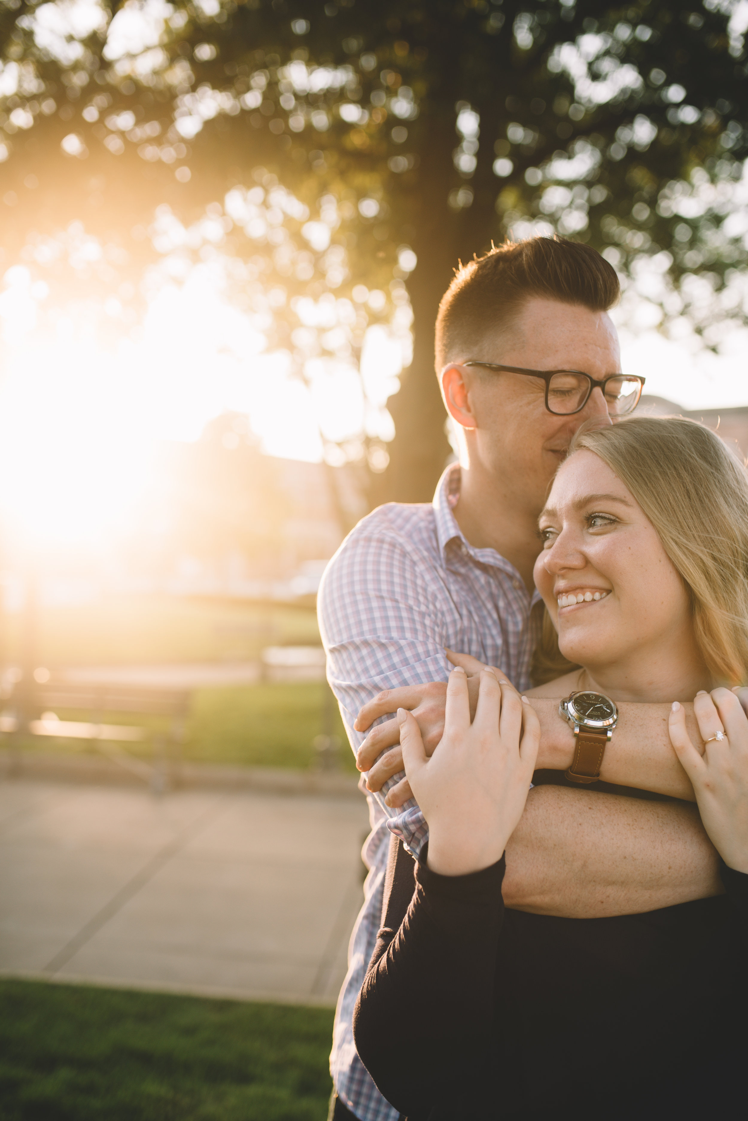 My husband Evan and I, from our engagement shoot!