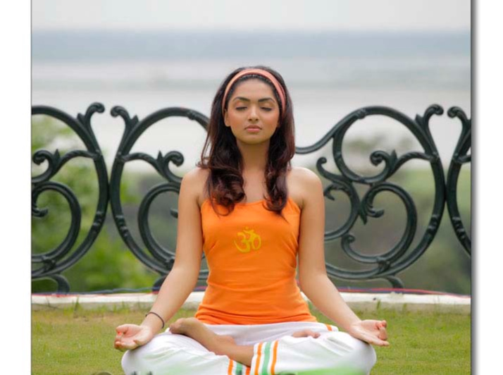 Me actually attempting to meditate during a photoshoot- not recommended