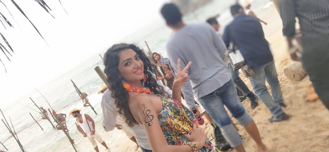 """On set as """"Sneha"""" in Sri Lanka"""