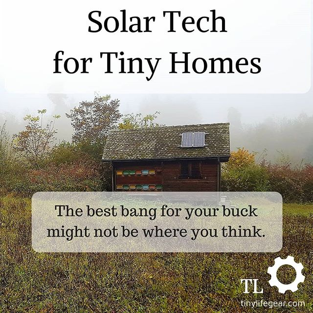 Hint: electricity is not first on the list for the best use of solar power for tiny homes. Link to article in bio.