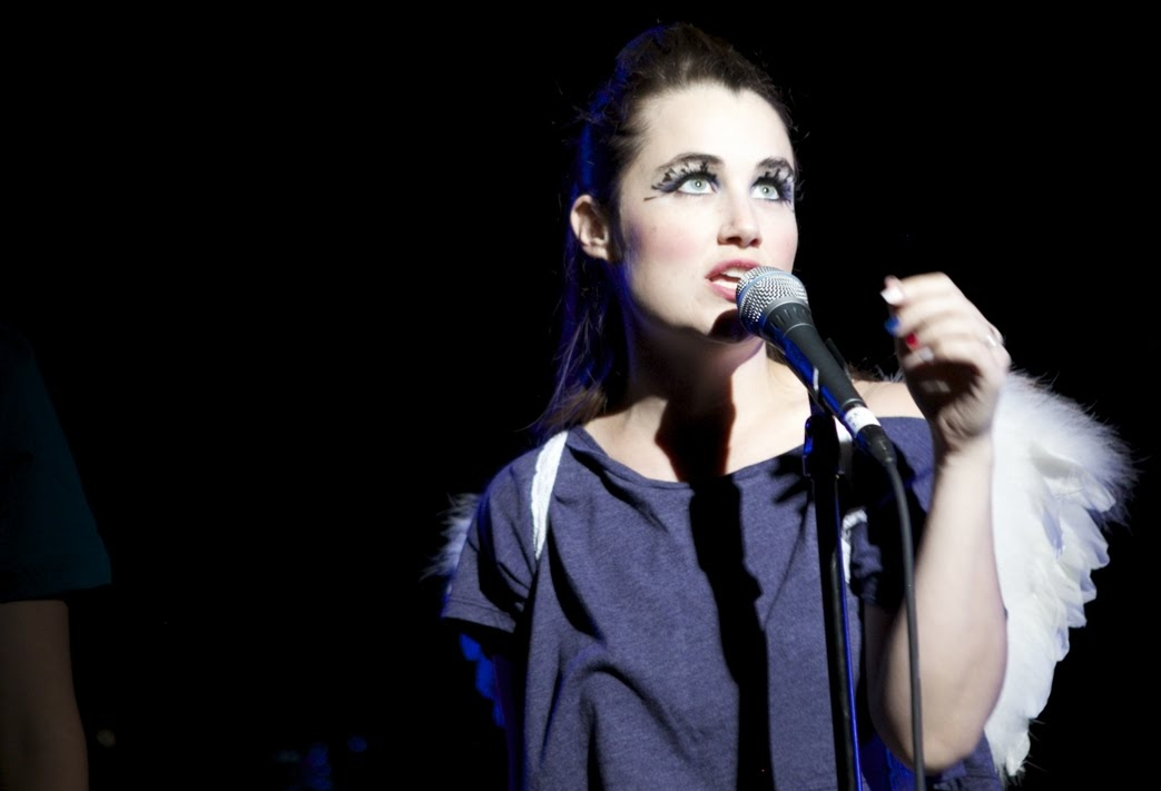 Lauren performing with her band  Sky-Pony.  Photo by Esty Stein.