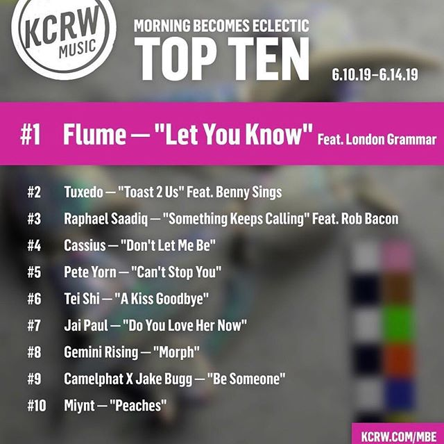 Huge thanks to @kcrw @mbekcrw & @thejasonbentley for the continued support!!