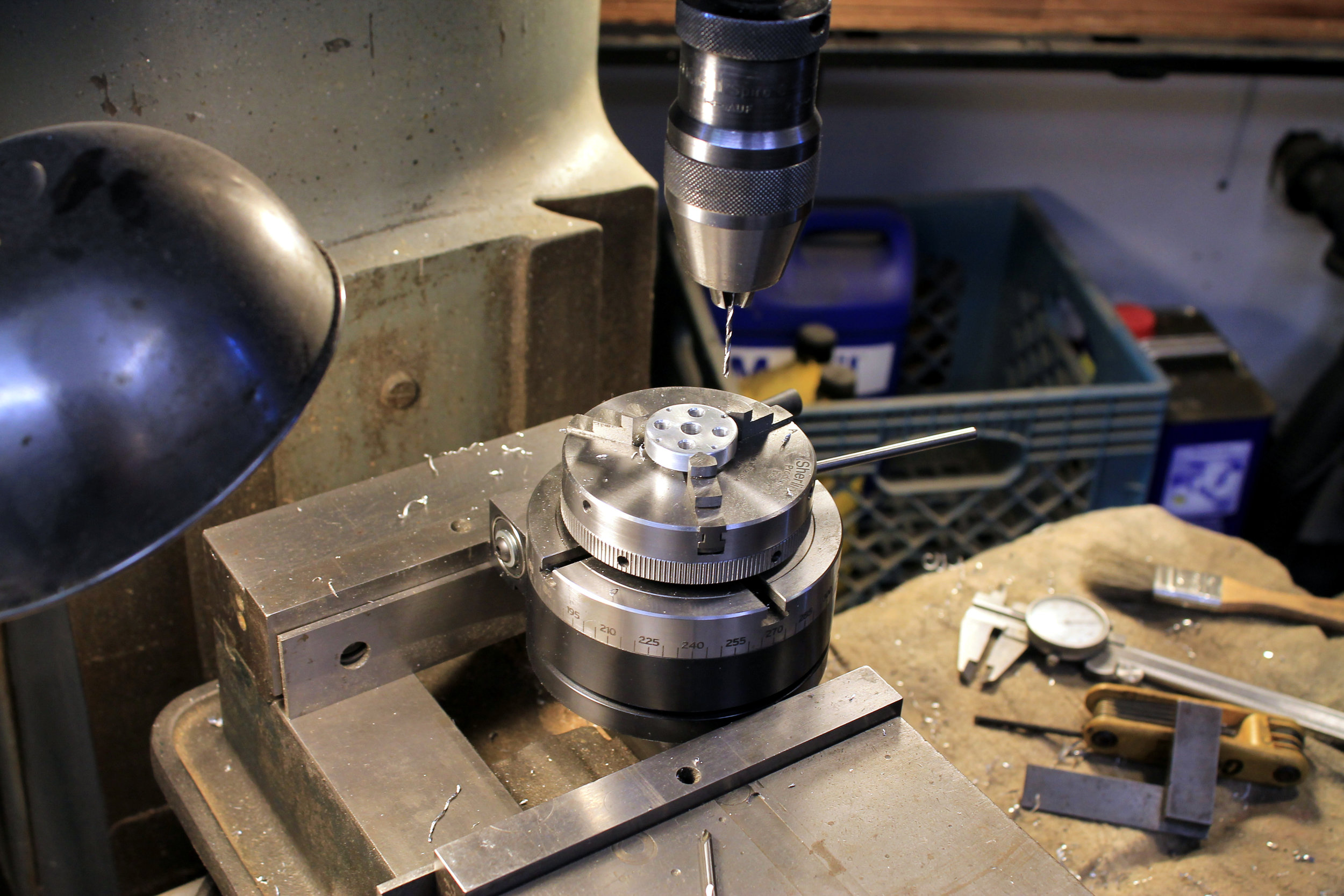 Sherline rotary table is great for small parts