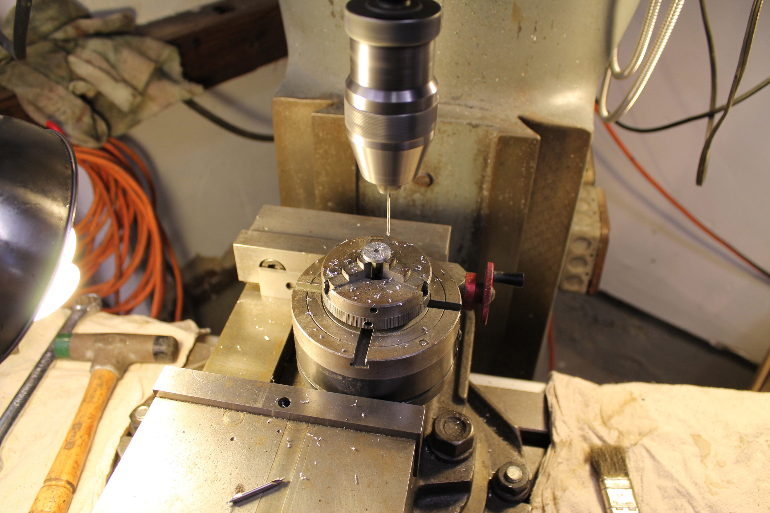 Drilling Gear Blanks with Sherline Rotary Table