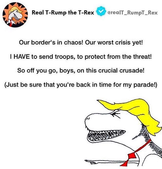 #trump #immigrantsmakeamericagreat #caravan #trumpparade #dictator #moroninchief #thursdaythoughts #border #trumpmemes #dc #politicalcartoon #cartoon #satire #politicalcomedy