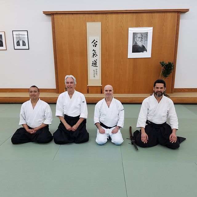 Thanks to the @midwestaikido for sharing their dojo with the Kyoikaze #Iaido Federation to host their Annual Seminar! Thanks to Berthiaume, Blue and Ha Sensei for the instruction!