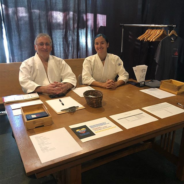 Morning classes are done, now getting ready for the afternoon session! #AikidoForVenezuela