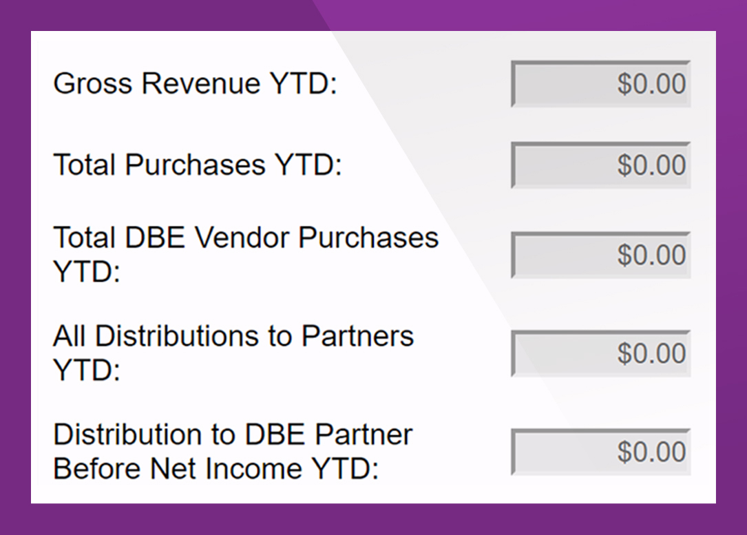 - Identify the Airport Concession Disadvantaged Business Enterprises (ACDBE) and manage the concession details and participation commitments. Primes submit gross revenue and supplier purchases and ensure that sales concession data is clear and concise.