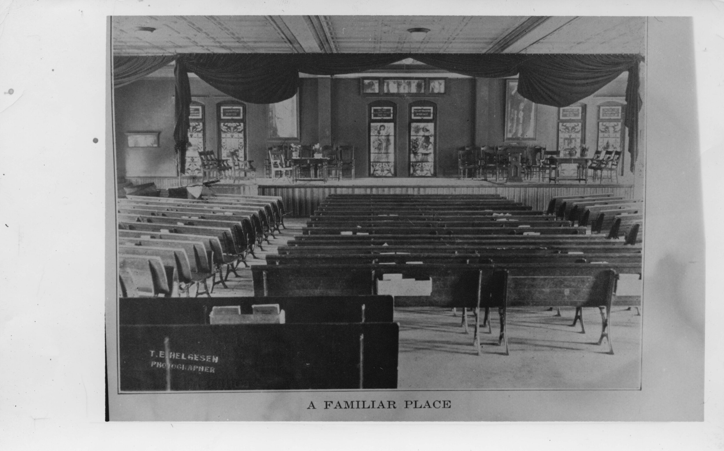 Cranford Hall Auditorium - Built in 1890, the auditorium served as the primary performance space at the State Normal School (later Colorado State Teachers College and, still later, the University of Northern Colorado) until 1949 when an arson-set fire made the space unusable. (Image use courtesy of Special Collections, Michener Library, University of Northern Colorado.)