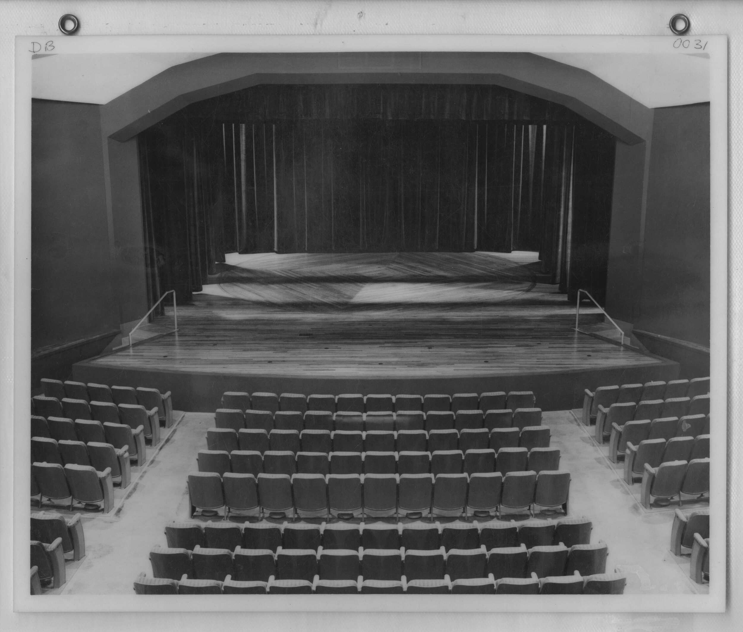 Helen Langworthy Theatre - The space began life as the Frasier Hall Auditorium in 1954, but was renamed in 1985 in honor of Ms. Langworthy for her many contributions to the Theatre Department and the Little Theatre of the Rockies. Langworthy Theatre remains a vital performance space for the University of Northern Colorado's School of Theatre Arts and Dance. (Image use courtesy of Special Collections, Michener Library, University of Northern Colorado.)