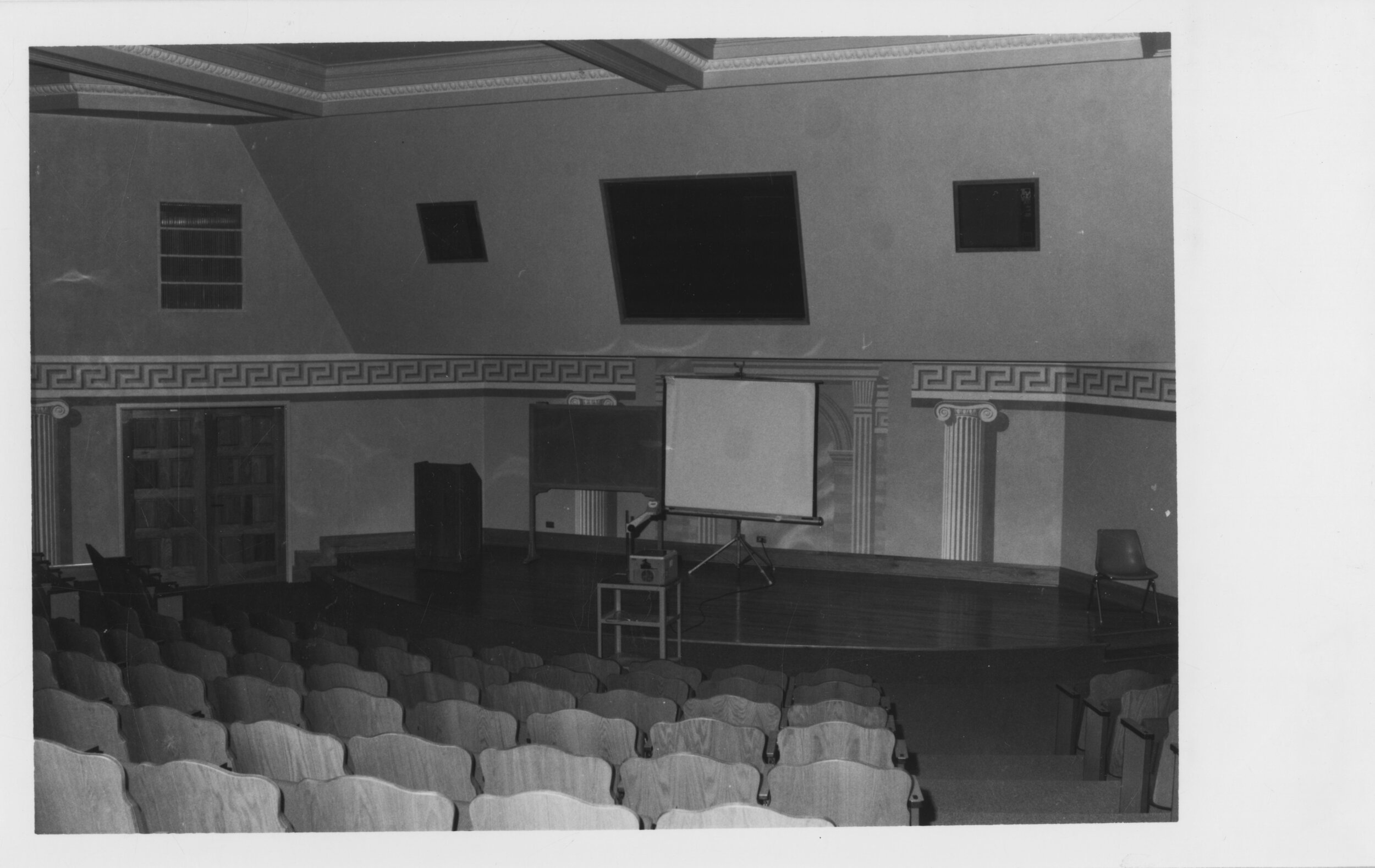 Milne Auditorium, Kepner Hall, UNC - Milne has served as a classroom space, primarily, since its construction in 1912, but many student-produced performances have used the space, also. (Image use courtesy of Special Collections, Michener Library, University of Northern Colorado.)