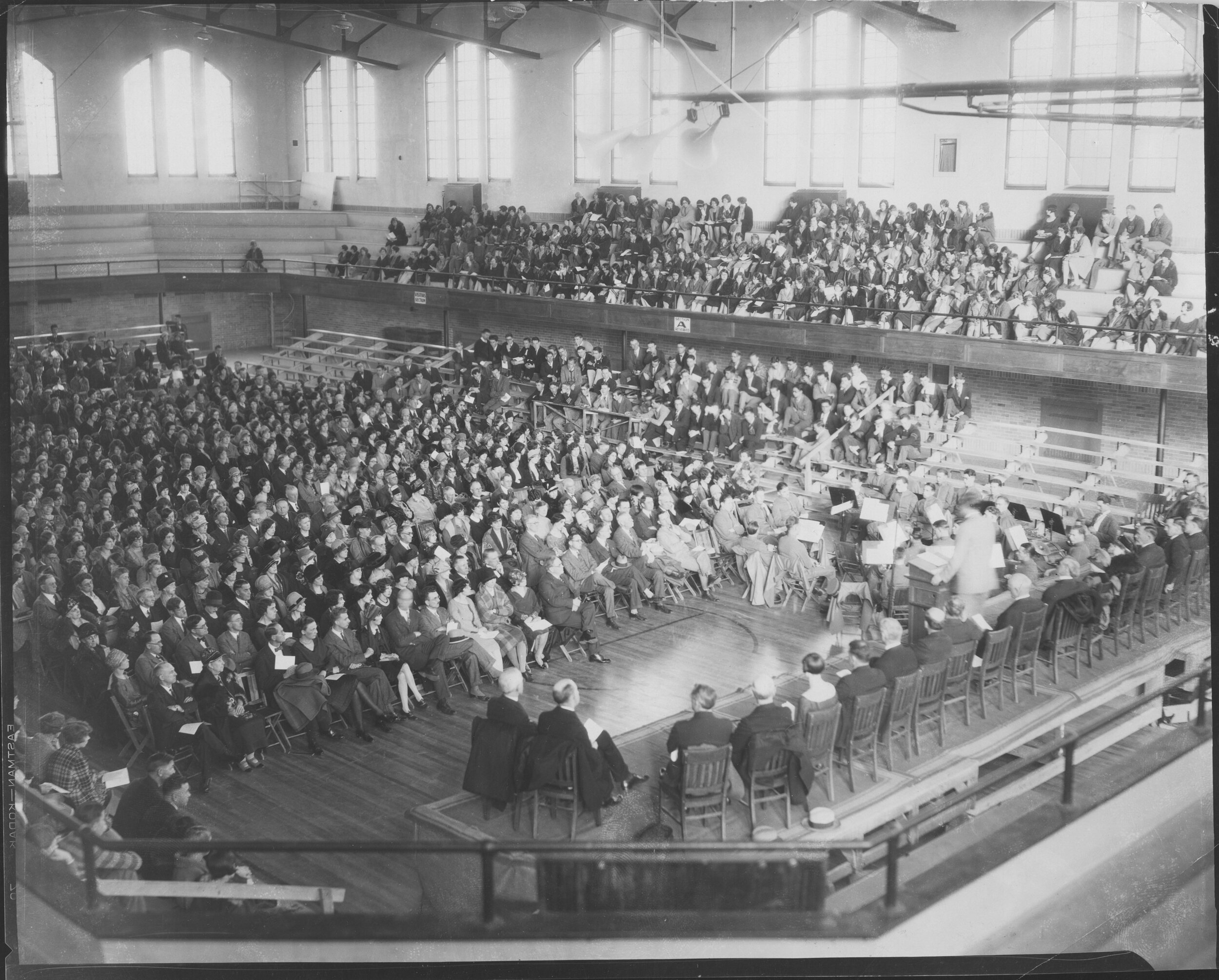 Gunter Hall Gymnasium, UNC - Opened in 1928, the gymnasium hosted many performances from touring musical acts and served as the home to the Greeley Philharmonic Orchestra from 1947 until 1971. (Image use courtesy of Special Collections, Michener Library, University of Northern Colorado.)