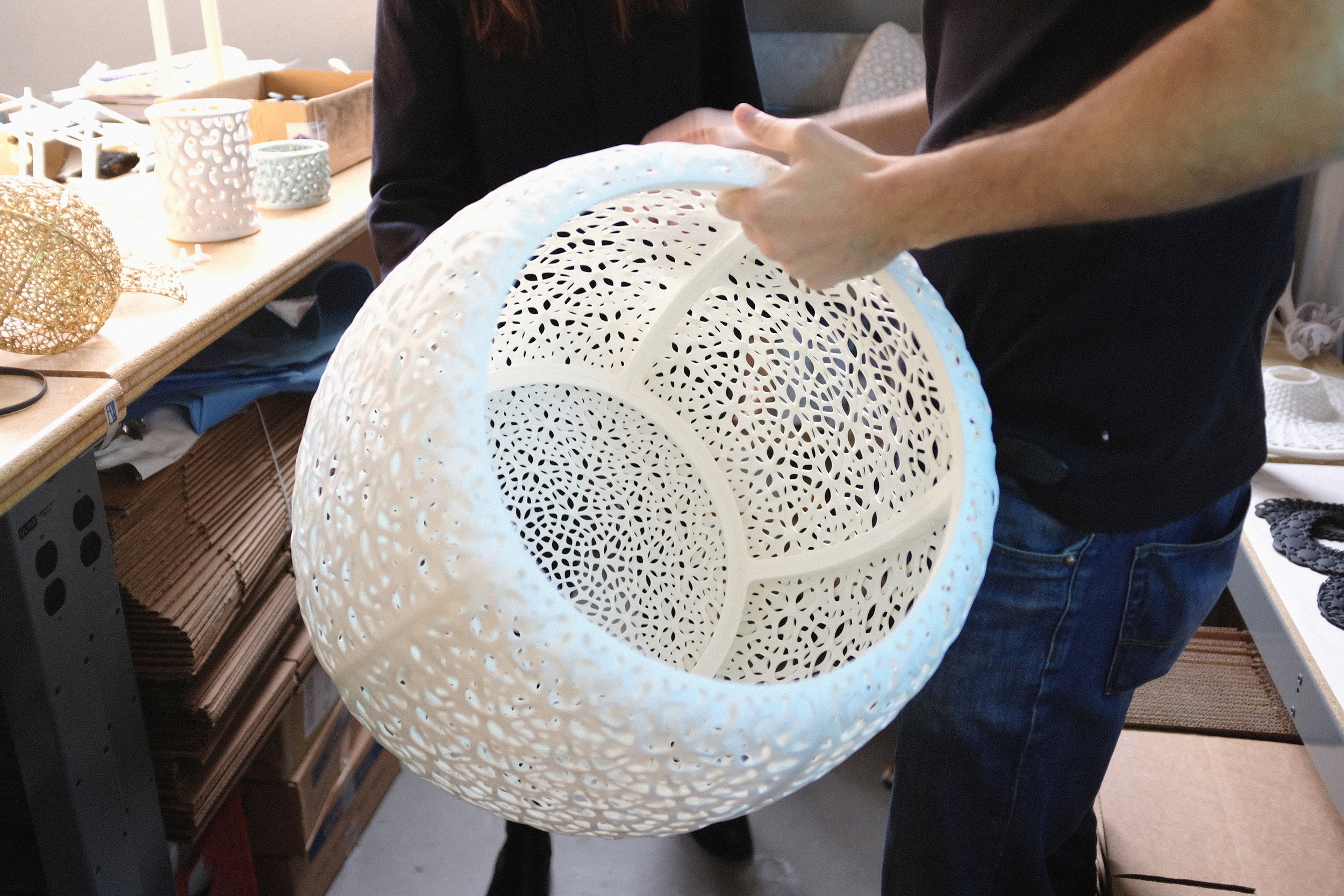 Each seat is made of 7 different 3D printed segments that get bolted together