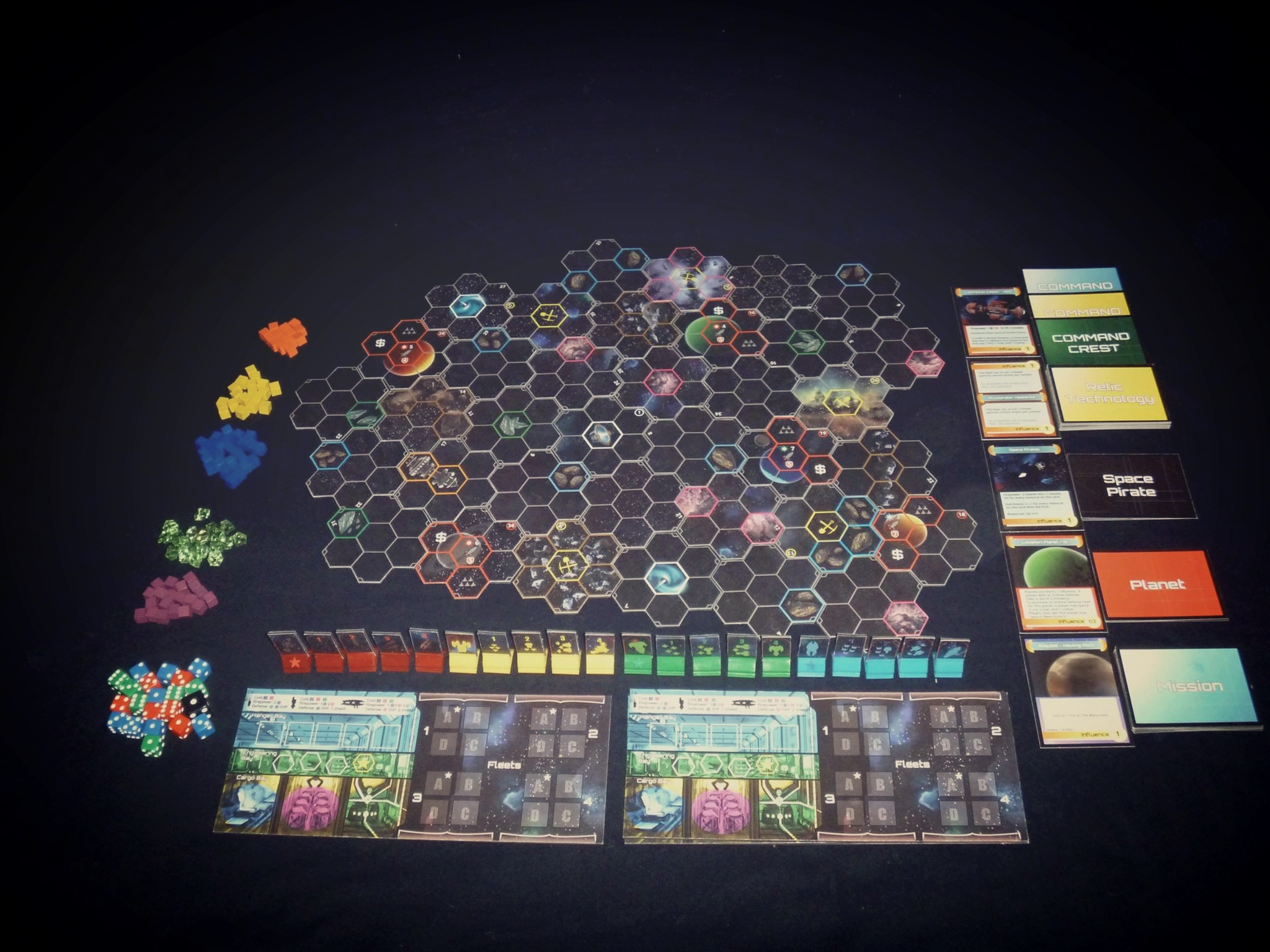 A prototype of the game and all its components