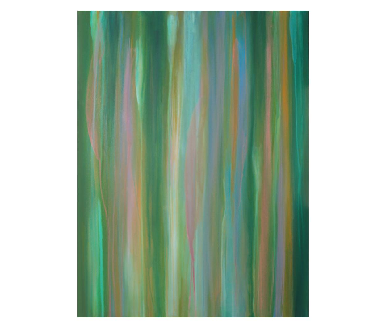 "Evening Raga  30"" x 40"" acrylic on lightweight canvas ©Karen Zilly  SOLD"