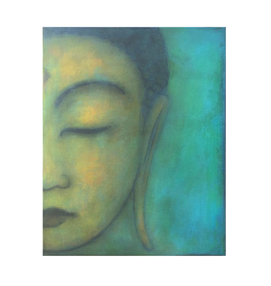 "Buddha series, 1  16"" x 20"" acrylic on lightweight canvas ©Karen Zilly   SOLD"