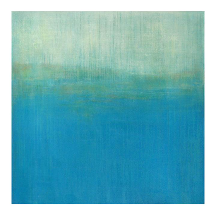 "Adrift Between  42"" x 42"" acrylic on hand-built canvas ©Karen Zilly  SOLD"