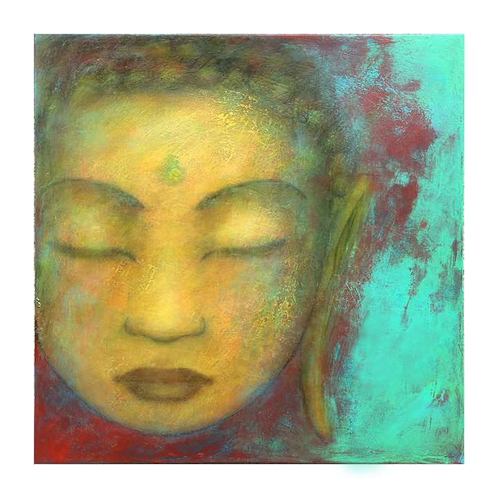 "Metta study, 1     18"" x 18"" acrylic on canvas ©Karen Zilly     SOLD"