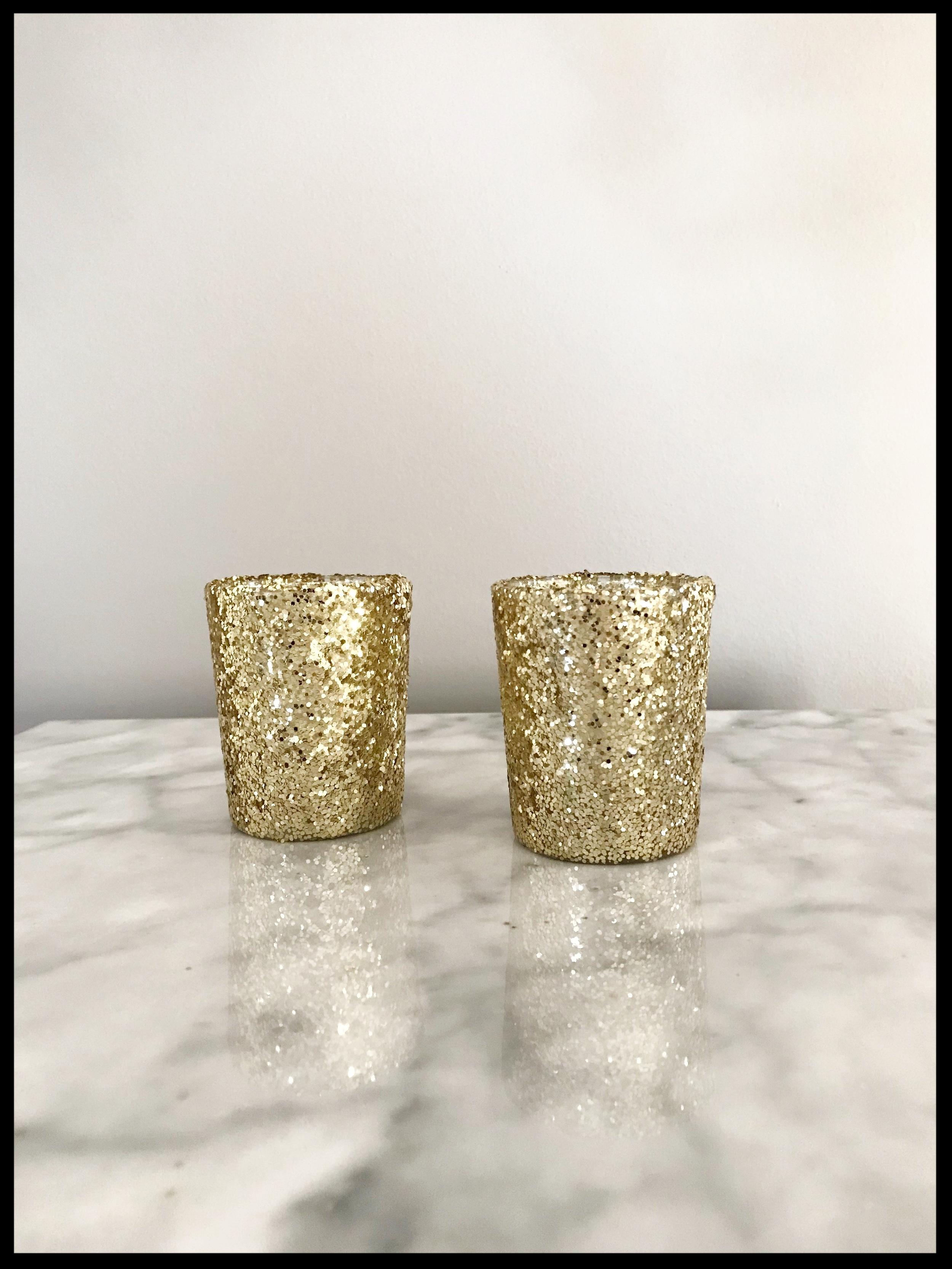 Gold Glitter Votive Holder