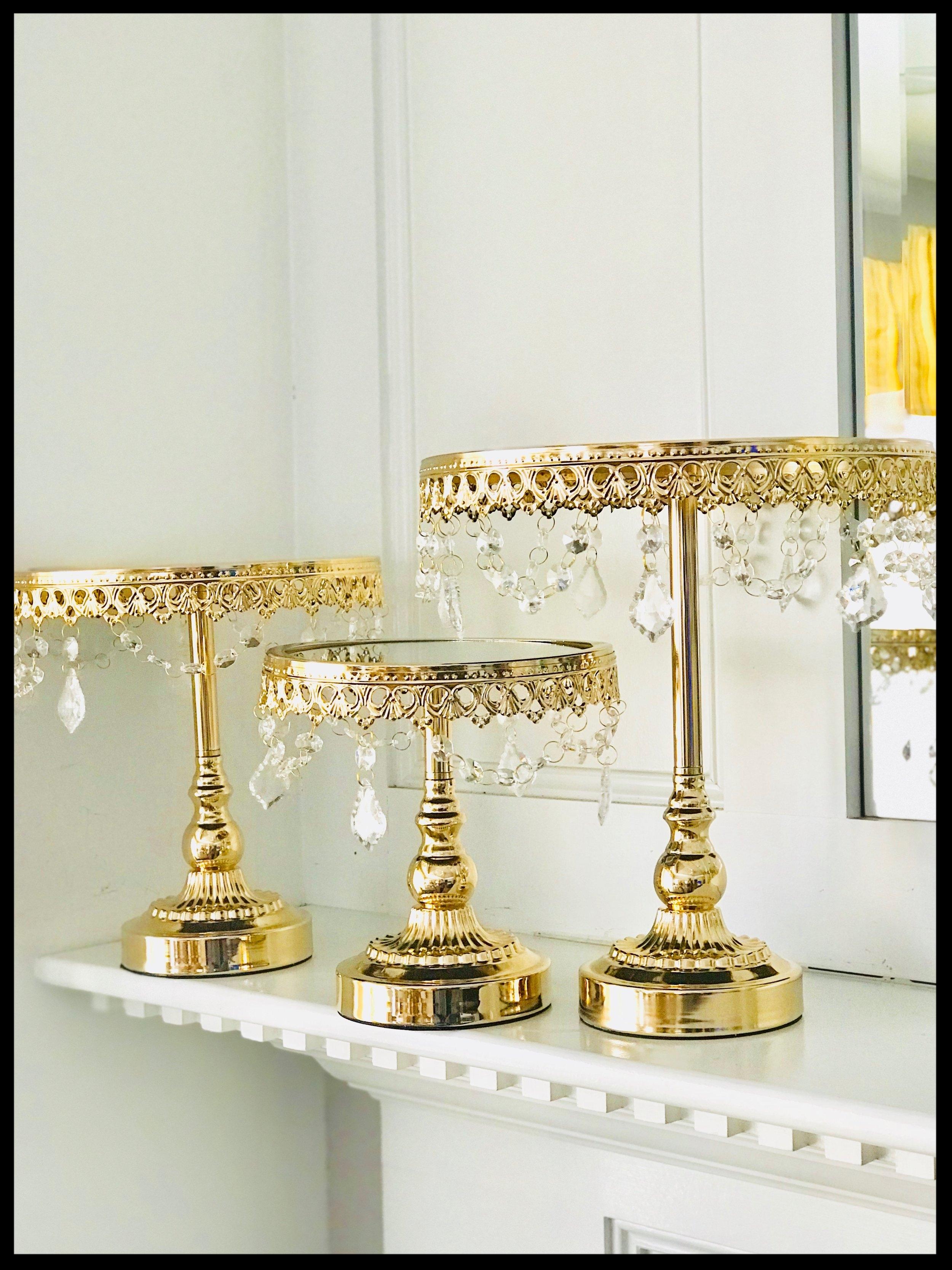 Gold Tiered Dessert Stands