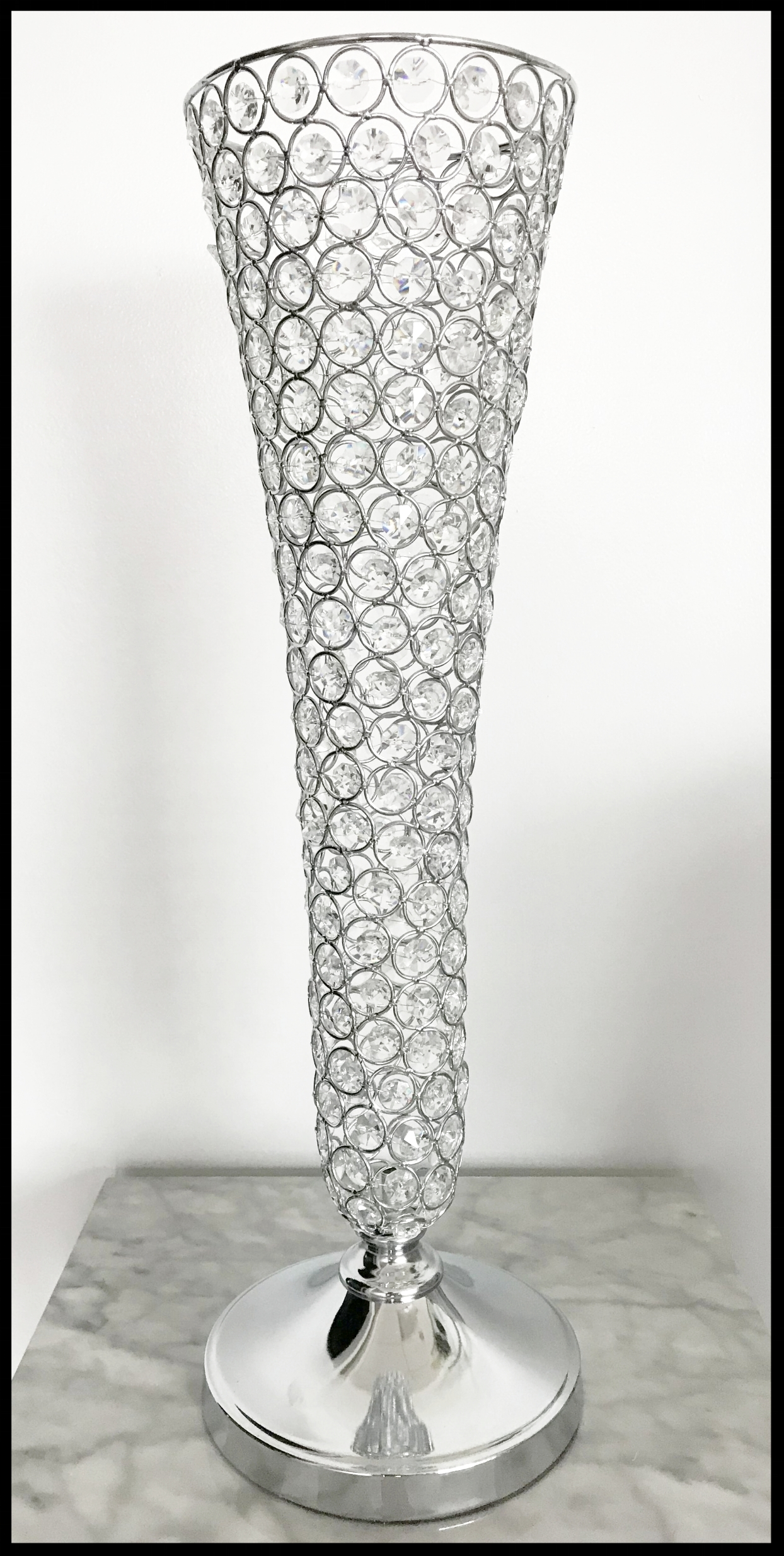 Crystal Trumpet Vase