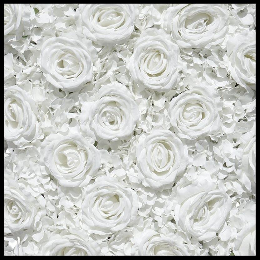 Wedding White- Premium Silk Roses, Peonies & Hydrangeas -