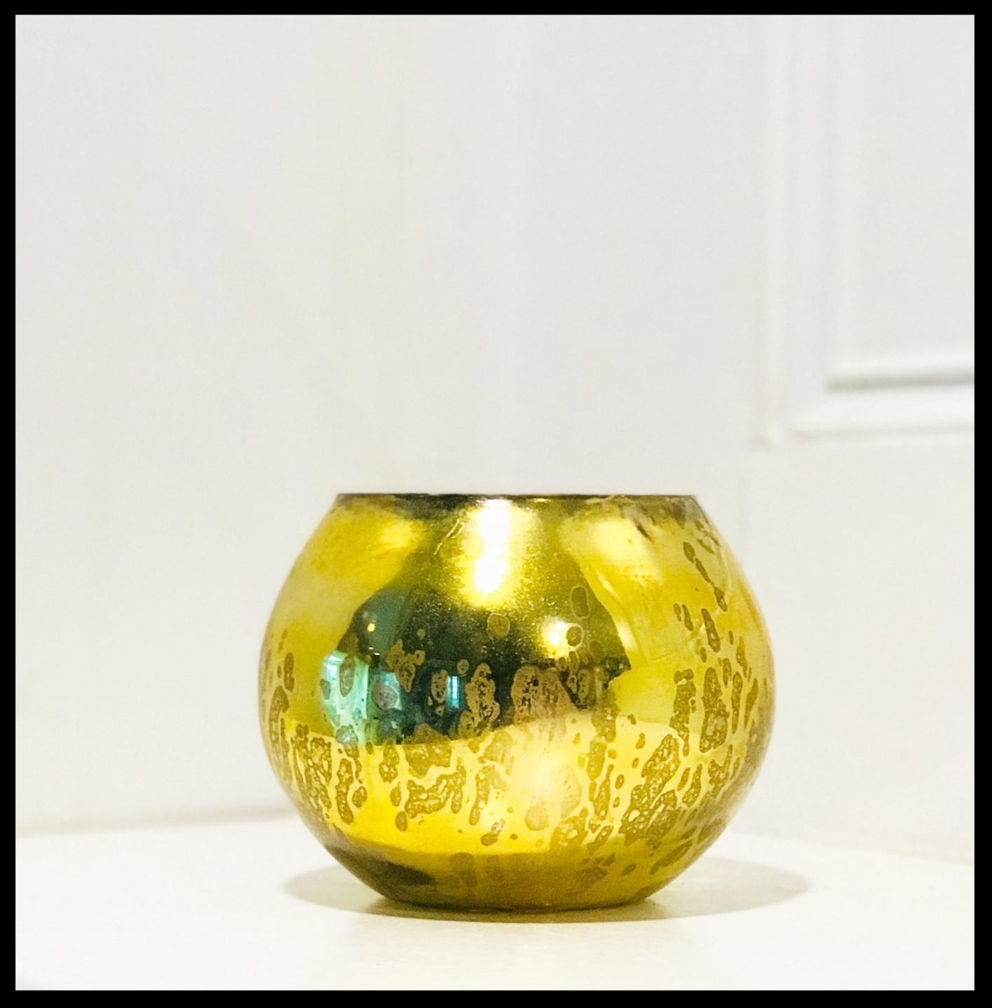 Vintage Gold Fish Bowl