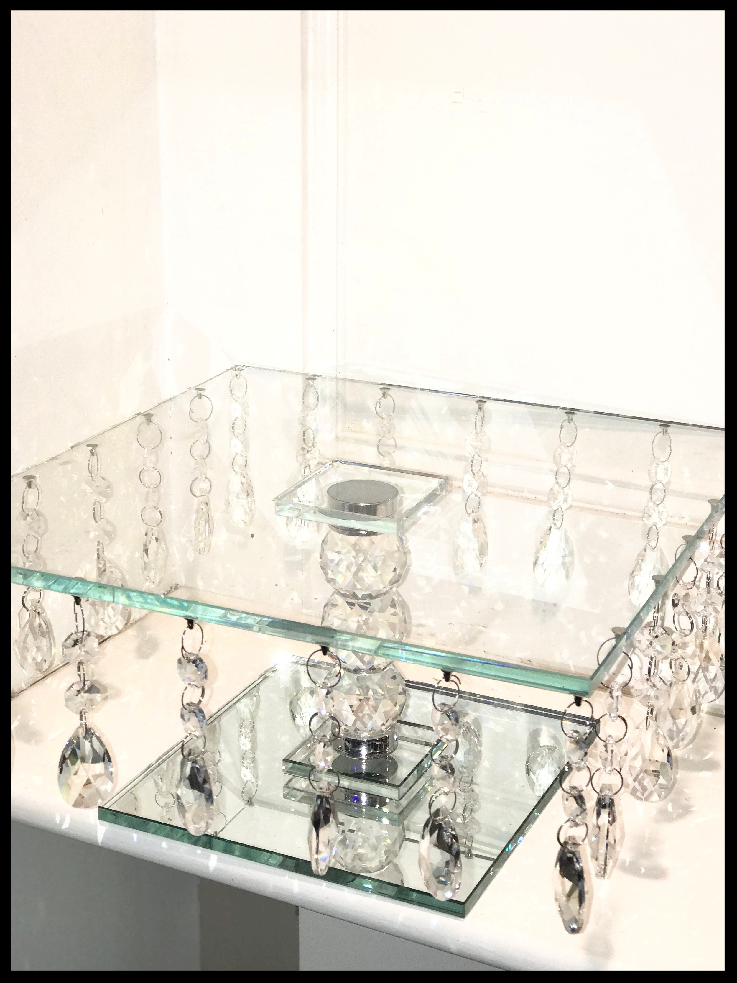Square Crystal Glass Stand