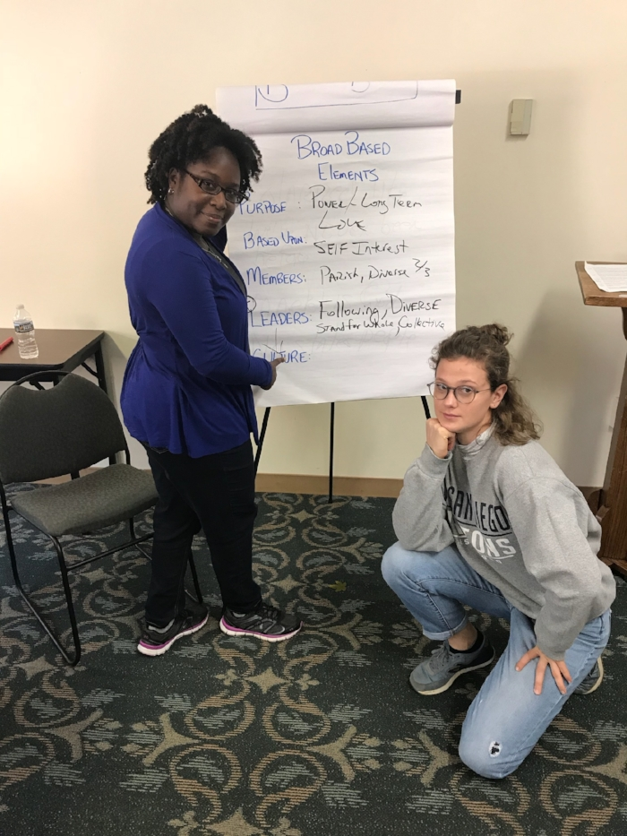 Mel and Liv at the October community organizing training in Baltimore, sponsored by Johnson C. Smith Seminary, Metro IAF, and NEXT Church.