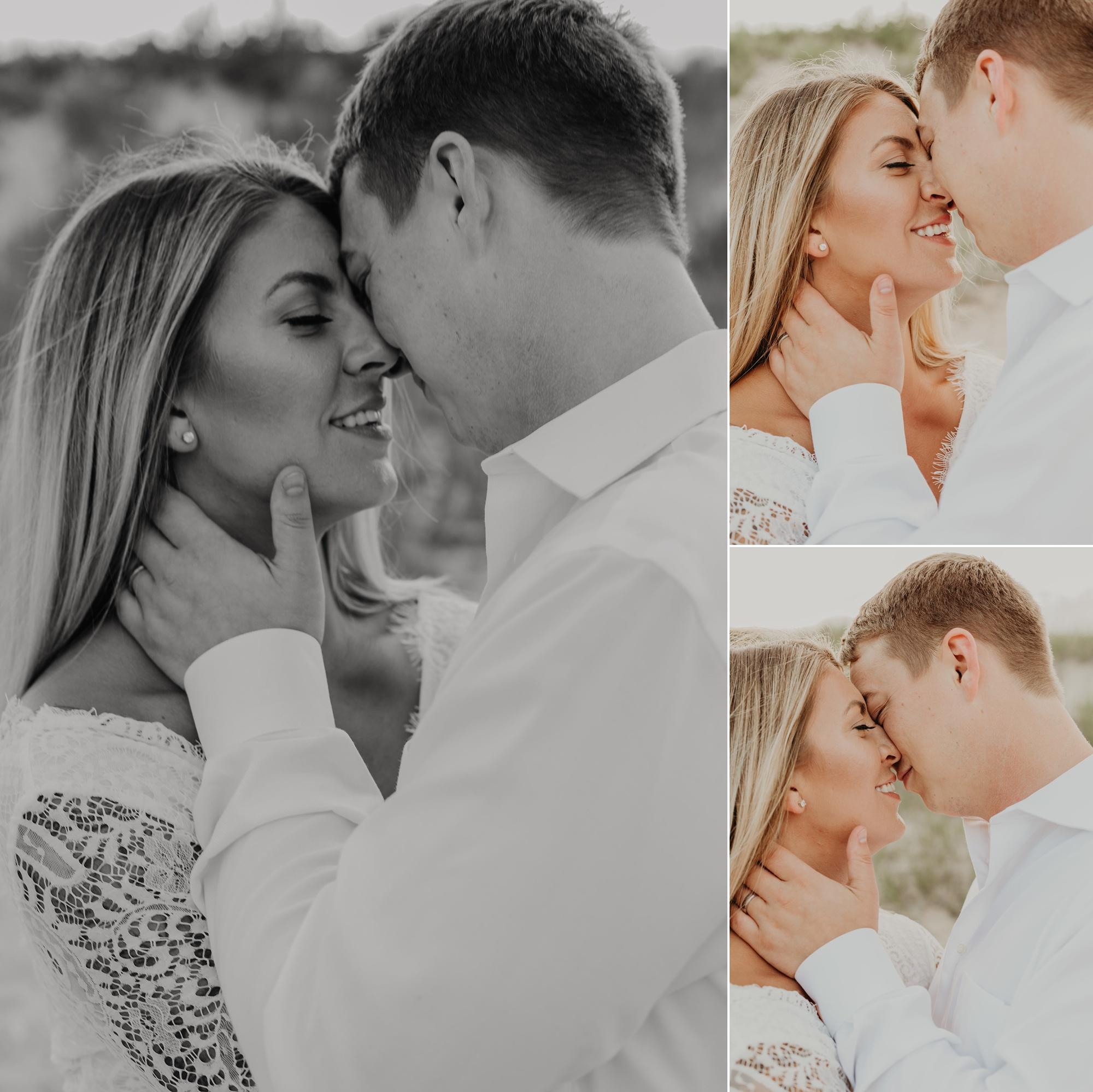 Northern Michigan wedding photographer. Petoskey State Park elopement.