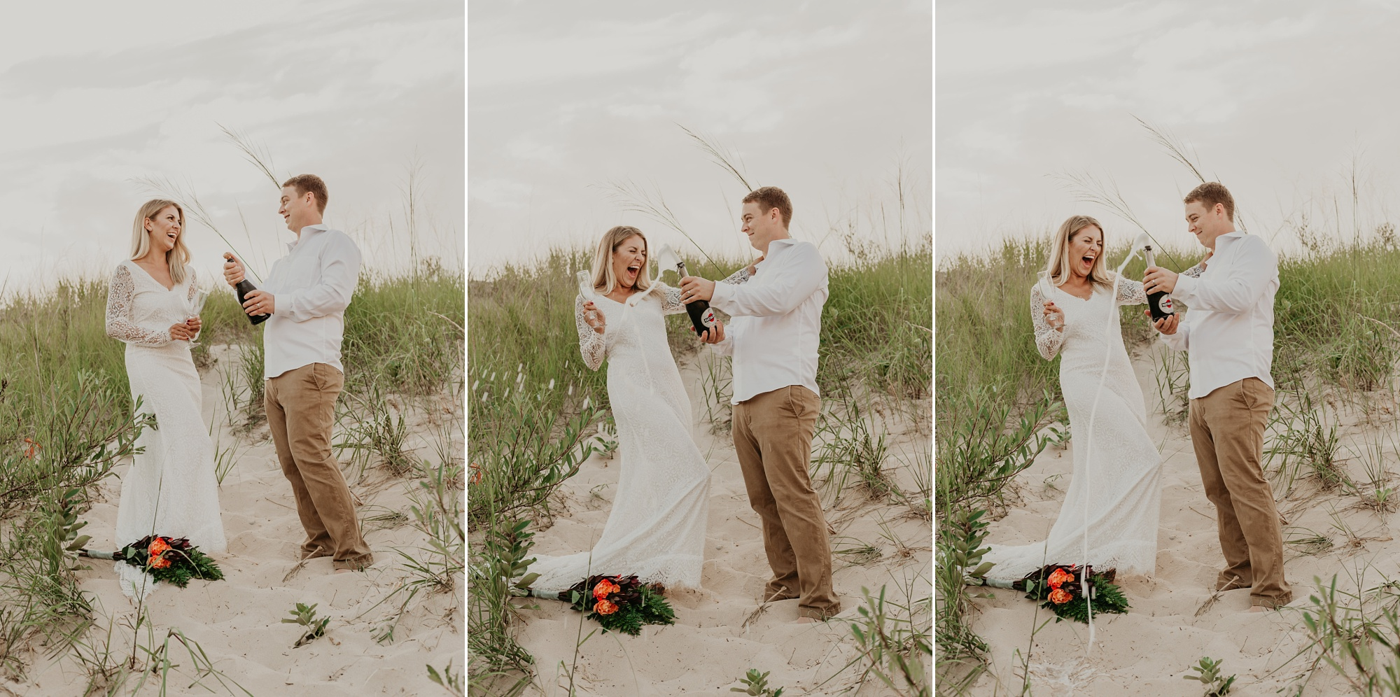 Romantic elopement photography in Petoskey