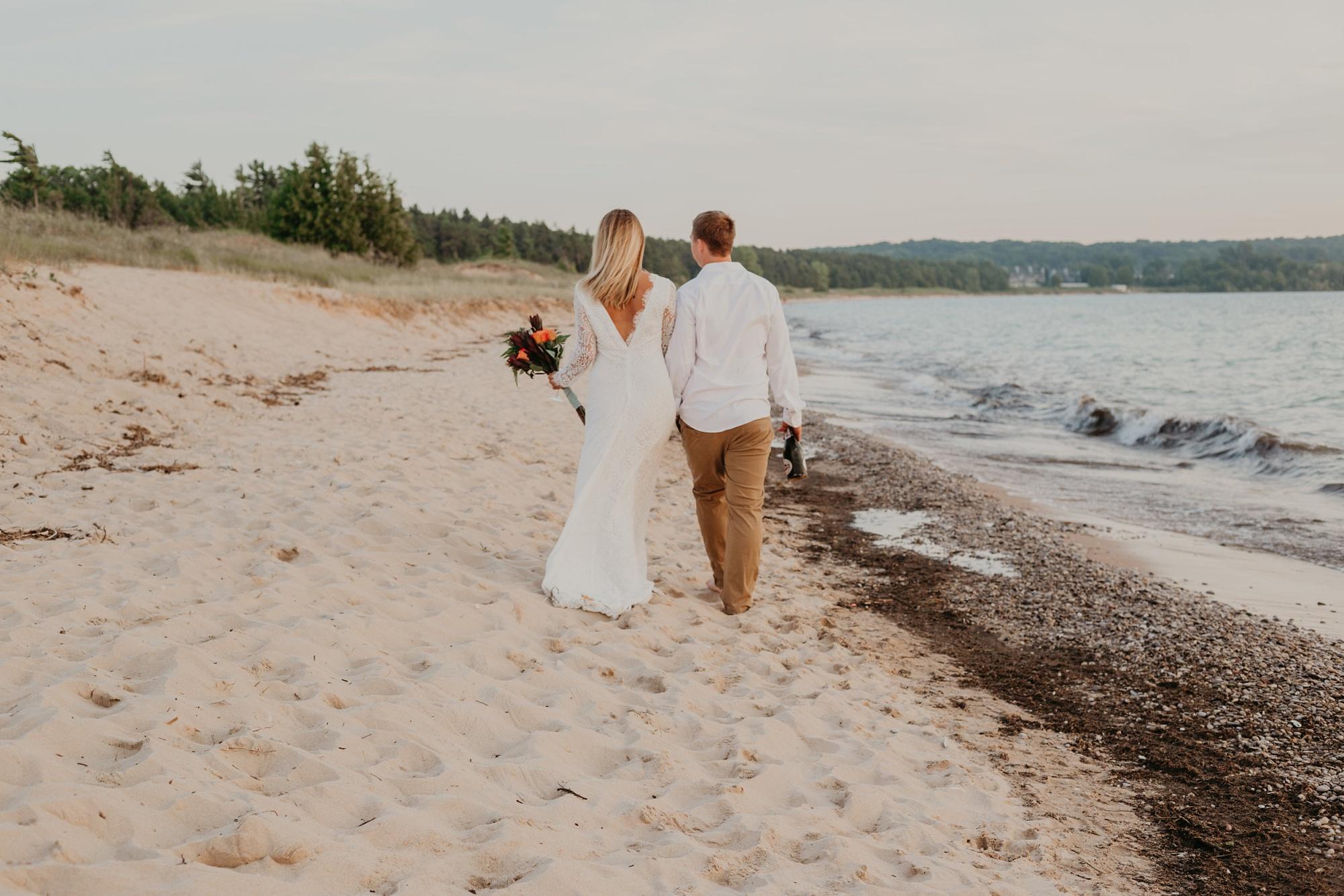 Lake Michigan beach wedding photographer