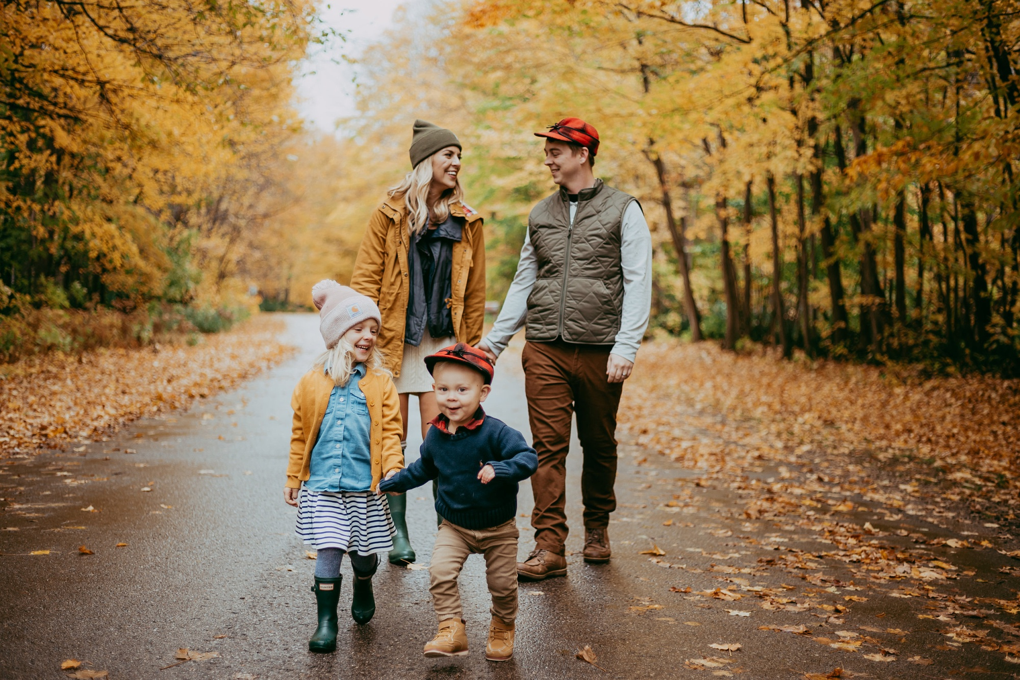 Harbor Springs MI fall family photo session