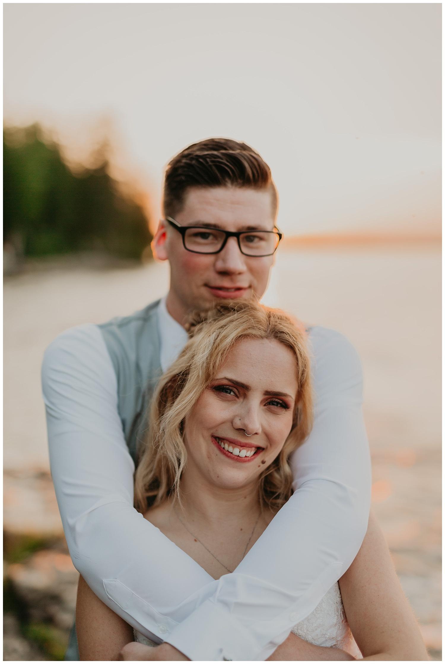 Bride and groom michigan wedding