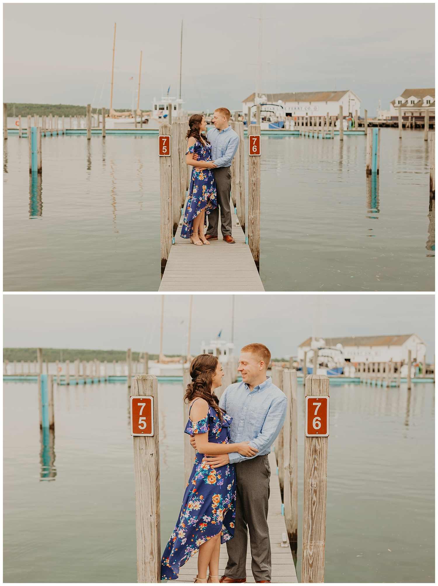 Mackinac island engagement photos
