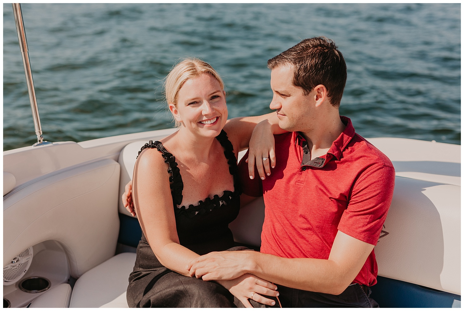 boating engagement photographer michigan