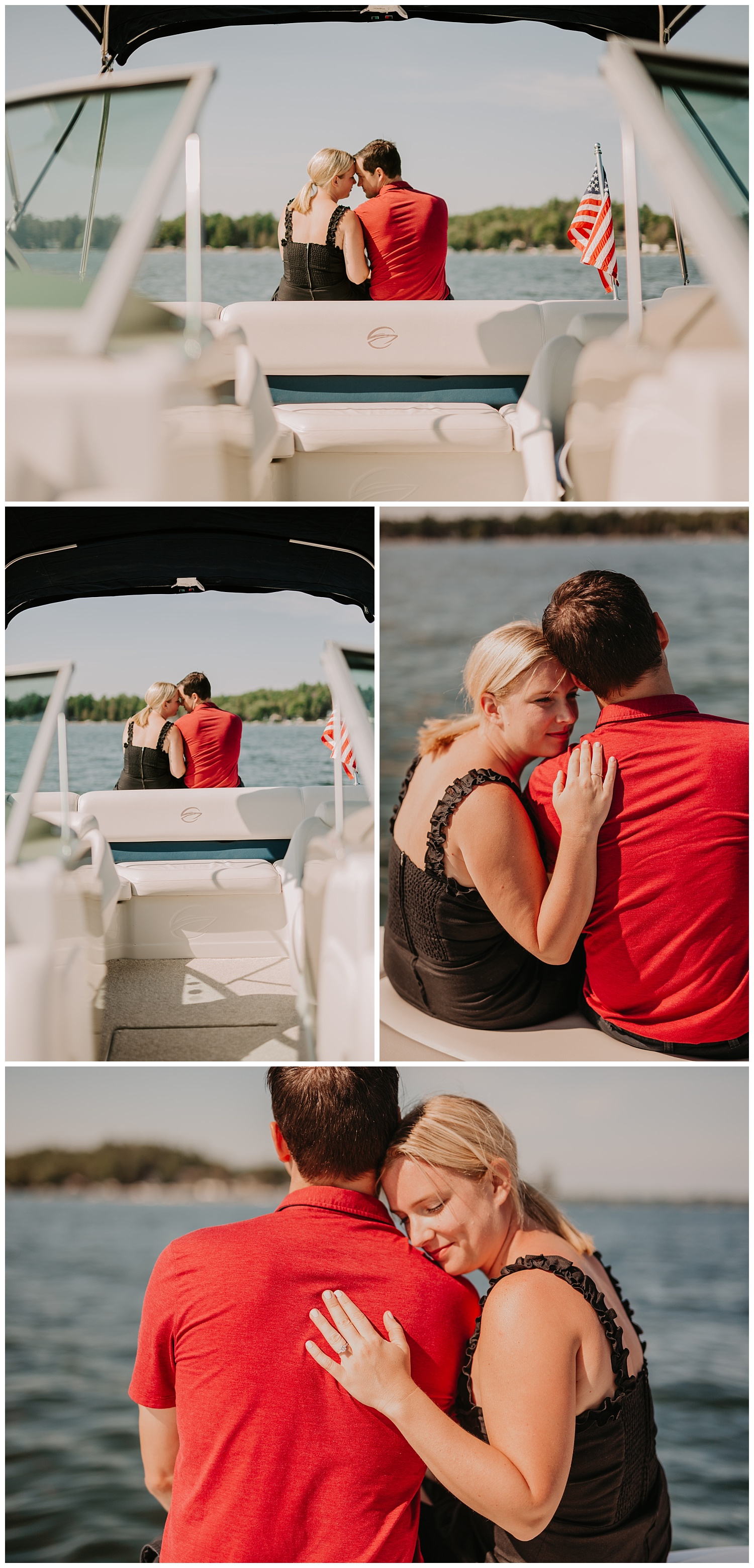 mullet lake country club engagement photos