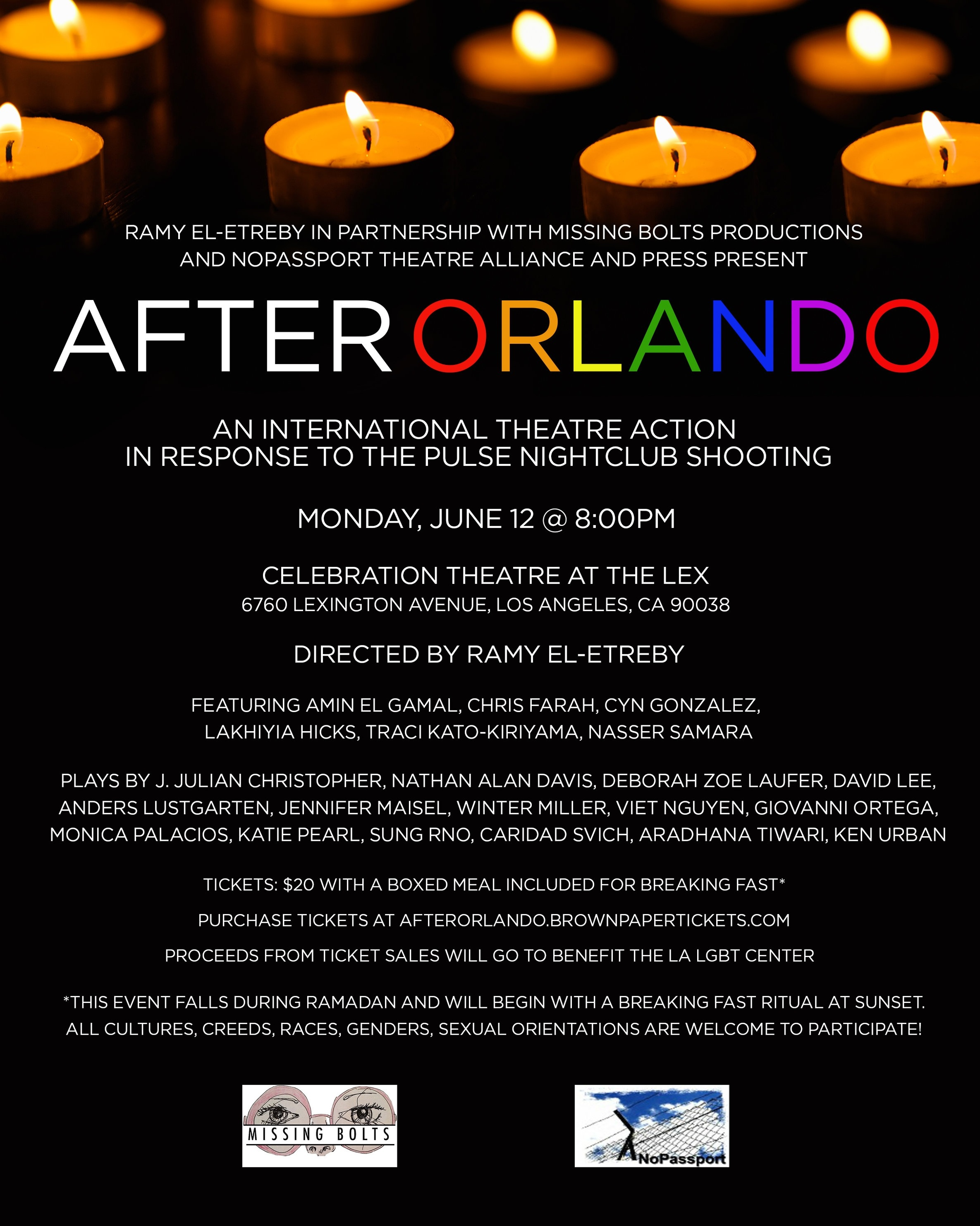 AFTER ORLANDO - CELEBRATION THEATRE - 6.12.17