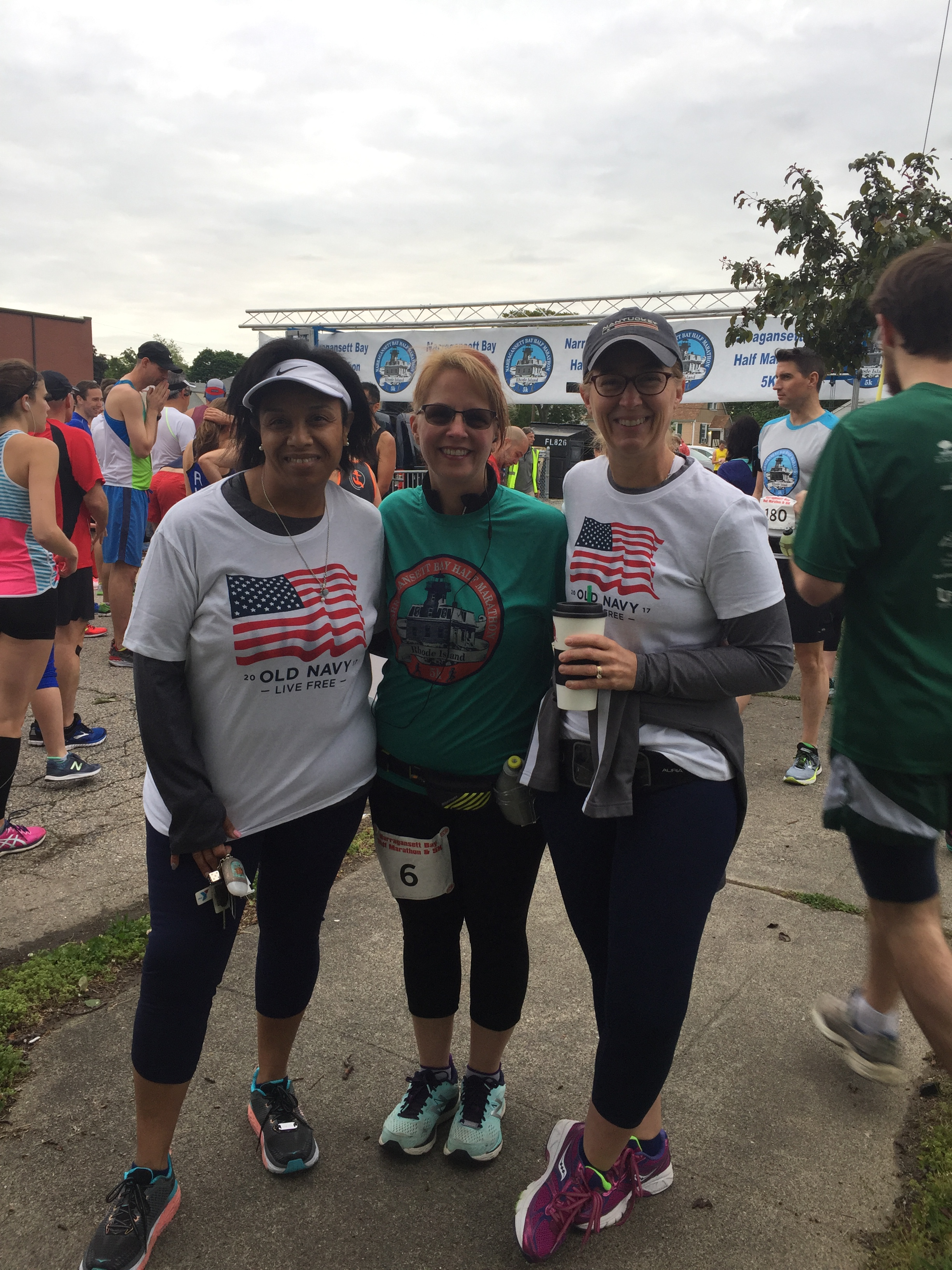 Cheered Heather (middle) on during her first Half Marathon in East Providence, RI. Kristen (right) and I did a lot of Heather's 13.1 training with her. 2017 Sole Sisters <3