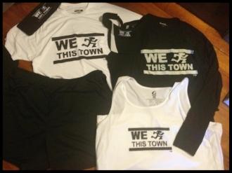 We Run This Town team apparel.