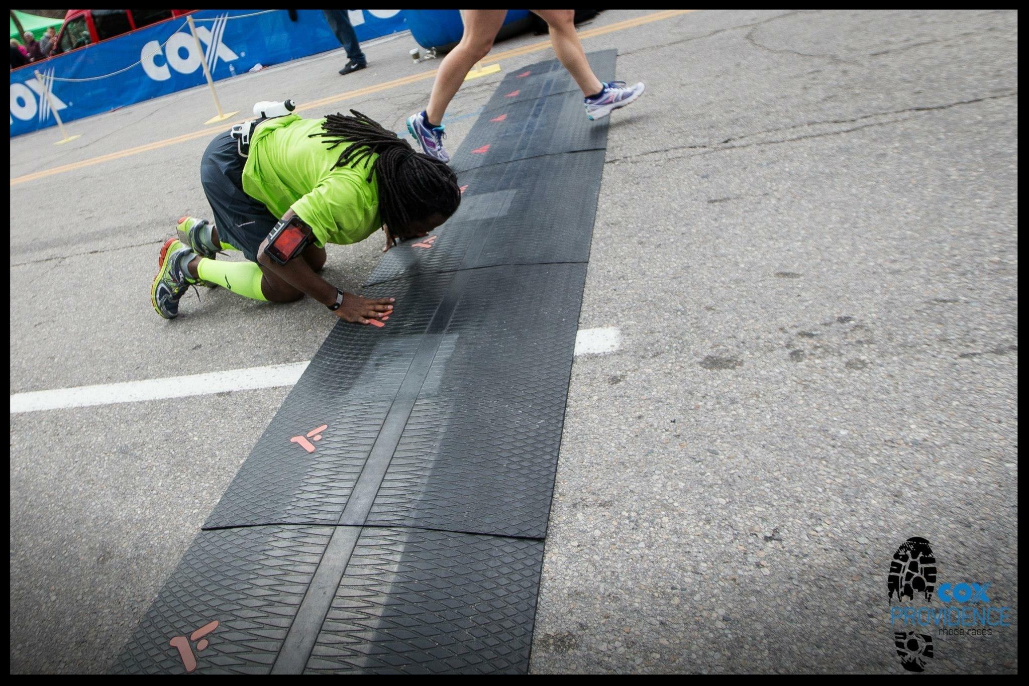Anthony's Boston Marathon finish!