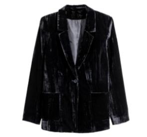 Velvet black jacket(vintage).    Similar  here