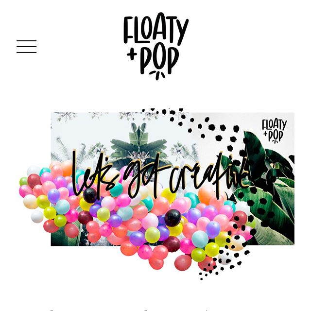 Had such fun designing this #squarespace website for @floatyandpop | amazing balloon garlands on the Gold Coast