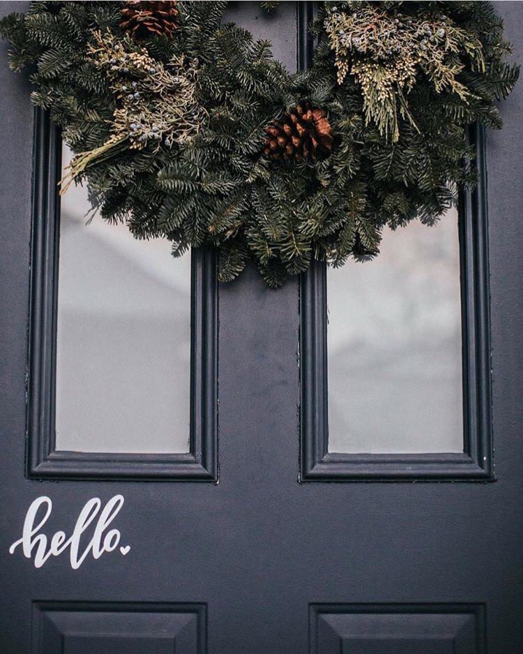 Hello Door Decal (black or white) $15